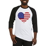 Stars & Stripes Heart Baseball Jersey