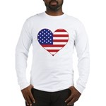 Stars & Stripes Heart Long Sleeve T-Shirt