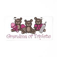 Grandma Of Triplets Aluminum License Plate