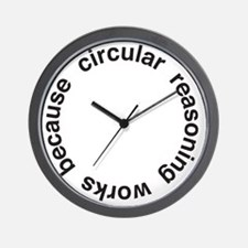 Circular Reasoning Wall Clock