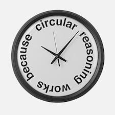 Circular Reasoning Large Wall Clock