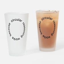 Circular Reasoning Drinking Glass