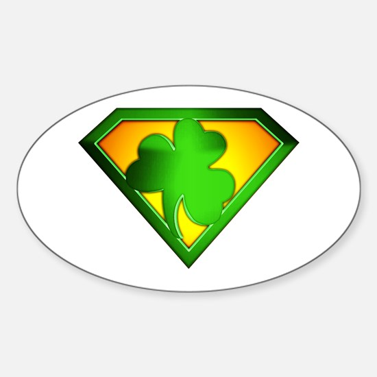 Super Shamrock Oval Decal