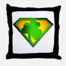 Super Shamrock Throw Pillow
