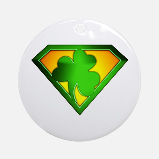 Super Shamrock Ornament (Round)