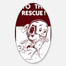 Mr. Spudnut to the Rescue! Sticker (Oval)