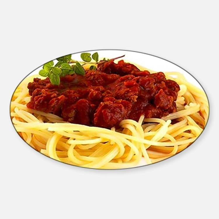 spaghetti Sticker (Oval)