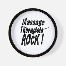 Massage Therapists Rock ! Wall Clock