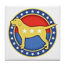 yellow-dog-T Tile Coaster