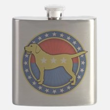 yellow-dog-T Flask