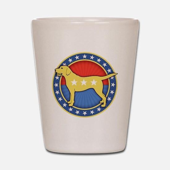 yellow-dog-T Shot Glass