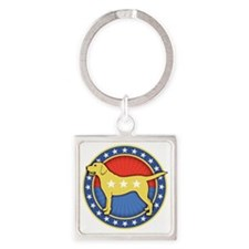 yellow-dog-T Square Keychain