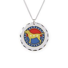 yellow-dog-T Necklace Circle Charm