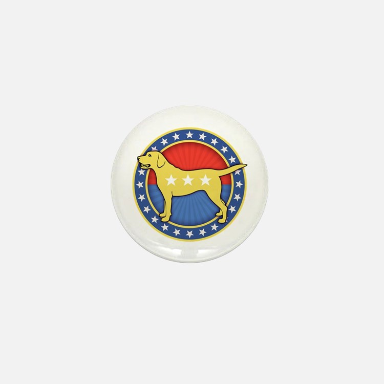 yellow-dog-T Mini Button