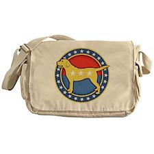 yellow-dog-T Messenger Bag
