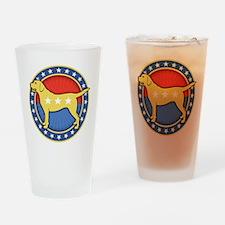 yellow-dog-T Drinking Glass