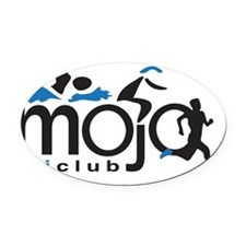 Mojo logo high back Oval Car Magnet