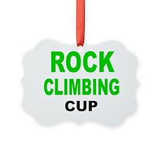 ROCK CLIMBING CUP Ornament