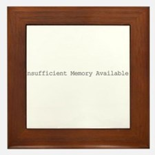Insufficient memory available Framed Tile
