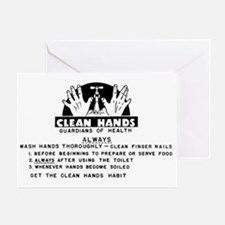 cleanhands Greeting Card