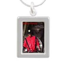 Thriller X movie cover Silver Portrait Necklace