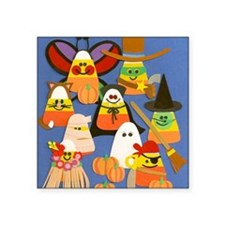 "Candy Corn on Parade Square Sticker 3"" x 3"""