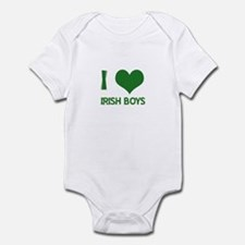 I love (heart) irish boys  Infant Bodysuit