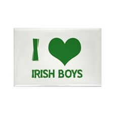 I love (heart) irish boys Rectangle Magnet