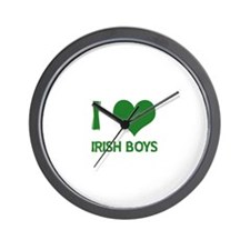 I love (heart) irish boys  Wall Clock