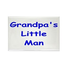 Grandpa's Little Man Rectangle Magnet