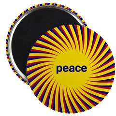 Swirling Star Peace Magnet