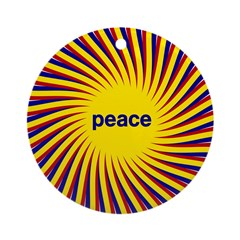 Swirling Star Peace Ornament (Round)