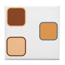 T Shirt Front White Tile Coaster