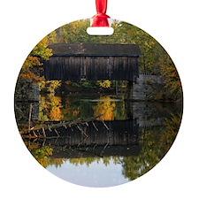 Covered Bridge Autumn View Ornament