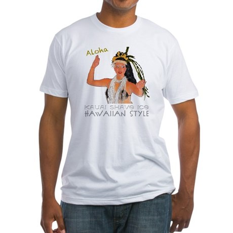 luau girl 6 Fitted T-Shirt