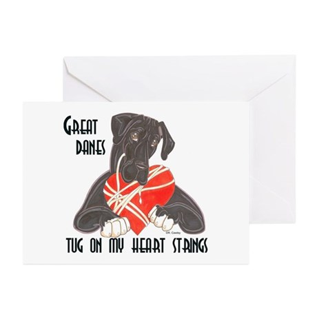 N Blk/Wht Tug Greeting Cards (Pk of 10)