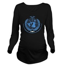 UNGCI Blue logo Long Sleeve Maternity T-Shirt