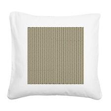 Weave Shower Curtain Square Canvas Pillow