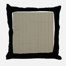 Weave Shower Curtain Throw Pillow