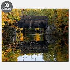 Covered Bridge Autumn View Puzzle