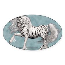 White Tiger Unicorn Decal