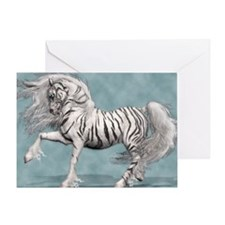 White Tiger Unicorn Greeting Card