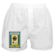 Turkeys and homestead fields Boxer Shorts