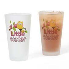 Happy Owls Little Sister Drinking Glass