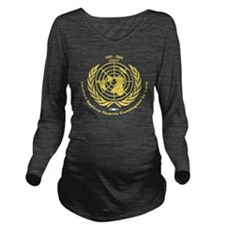 UNGCI-Vet-logo-yello Long Sleeve Maternity T-Shirt