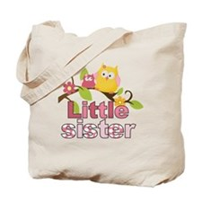 Happy Owls Little Sister Tote Bag