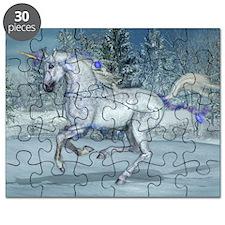 2012 Holiday Unicorn Blue Puzzle