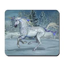 2012 Holiday Unicorn Blue Mousepad