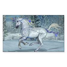 2012 Holiday Unicorn Blue Decal