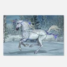 2012 Holiday Unicorn Blue Postcards (Package of 8)
